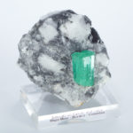 Emerald on Calcite and Lutite (160A)